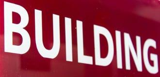 Σημάδι οικοδόμησης Στοκ φωτογραφία με δικαίωμα ελεύθερης χρήσης