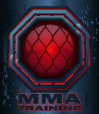 Σημάδι οκταγώνων κλουβιών κατάρτισης MMA Στοκ εικόνα με δικαίωμα ελεύθερης χρήσης