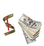 Σημάδι δολαρίων Στοκ Εικόνα