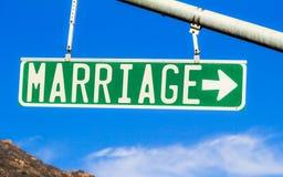 Σημάδι οδών γάμου Στοκ Εικόνες