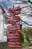 Σημάδι οδών στις πεδιάδες, Βιρτζίνια Στοκ φωτογραφία με δικαίωμα ελεύθερης χρήσης
