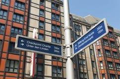 Σημάδι οδών του Βερολίνου Στοκ φωτογραφίες με δικαίωμα ελεύθερης χρήσης