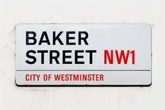 Σημάδι οδών Baker Στοκ φωτογραφία με δικαίωμα ελεύθερης χρήσης
