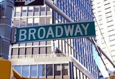 Σημάδι οδών Broadway, Μανχάταν, πόλη της Νέας Υόρκης Στοκ φωτογραφίες με δικαίωμα ελεύθερης χρήσης