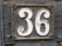 Σημάδι οδών Grunge με τον αριθμό 36 Στοκ Εικόνες