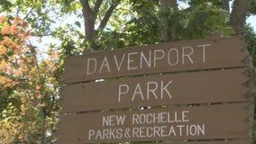 Σημάδι πάρκων υποδοχής (4 4) απόθεμα βίντεο