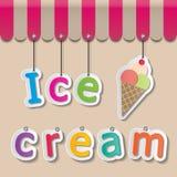 Σημάδι παγωτού shopfront Στοκ φωτογραφία με δικαίωμα ελεύθερης χρήσης