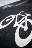 Σημάδι παρόδων ποδηλάτων Στοκ φωτογραφία με δικαίωμα ελεύθερης χρήσης