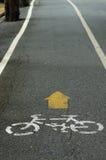 Σημάδι παρόδων Bycicle Στοκ φωτογραφίες με δικαίωμα ελεύθερης χρήσης