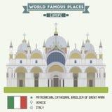 σημάδι πατριαρχικός Άγιος Βενετία διανυσματική απεικόνιση
