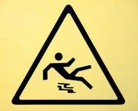 σημάδι πατωμάτων προσοχής &upsi Στοκ εικόνες με δικαίωμα ελεύθερης χρήσης
