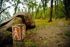 σημάδι πεζοπορίας Στοκ φωτογραφία με δικαίωμα ελεύθερης χρήσης