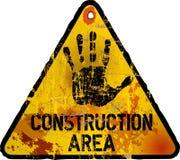 Σημάδι περιοχής κατασκευής, Στοκ φωτογραφία με δικαίωμα ελεύθερης χρήσης