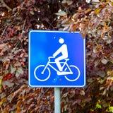 Σημάδι πορειών ποδηλάτων Στοκ Φωτογραφία