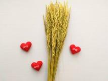 Σημάδι που παρουσιάζει στην καρδιά κεντημένη κόκκινη αγάπη επιστολών Στοκ Εικόνες