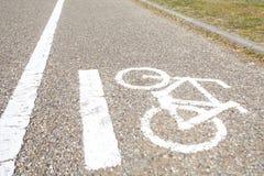 Σημάδι ποδηλάτων, πάροδος ποδηλάτων Στοκ φωτογραφίες με δικαίωμα ελεύθερης χρήσης