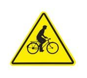 Σημάδι ποδηλάτων που απομονώνεται Στοκ Φωτογραφίες