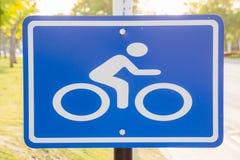 Σημάδι ποδηλάτων στον τρόπο Στοκ εικόνα με δικαίωμα ελεύθερης χρήσης