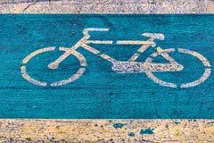 Σημάδι ποδηλάτων Στοκ Εικόνα