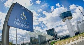 Σημάδι πρόσβασης επισκεπτών Στοκ Φωτογραφία