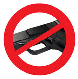 Σημάδι πυροβόλων όπλων απαγόρευσης Στοκ Φωτογραφίες