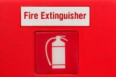 Σημάδι πυροσβεστήρων (σύμβολο πυροσβεστήρων) Στοκ Εικόνες