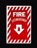 Σημάδι πυροσβεστήρων στοκ εικόνες