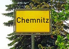 Σημάδι πόλεων Chemnitz (Γερμανία) Στοκ εικόνα με δικαίωμα ελεύθερης χρήσης