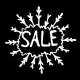 Σημάδι πώλησης στο μαύρο υπόβαθρο Στοκ Εικόνες