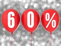 σημάδι πώλησης 60% Στοκ φωτογραφίες με δικαίωμα ελεύθερης χρήσης
