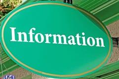 Σημάδι πληροφοριών, βοήθεια τουριστών Στοκ φωτογραφίες με δικαίωμα ελεύθερης χρήσης