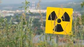 Σημάδι ραδιενέργειας απόθεμα βίντεο