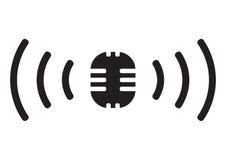 σημάδι ραδιοφωνικής μετάδ Στοκ εικόνες με δικαίωμα ελεύθερης χρήσης