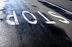 Σημάδι δρόμων και στάσεων Στοκ Φωτογραφία