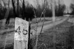 σημάδι 46 σε Jeziorzany, Πολωνία Στοκ Φωτογραφία