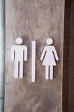 Σημάδι Σημάδι τουαλετών Στοκ Φωτογραφίες