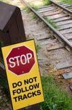 Σημάδι σιδηροδρόμου Στοκ Εικόνες