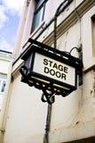 Σημάδι σκηνικών πορτών Στοκ εικόνα με δικαίωμα ελεύθερης χρήσης