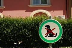 σημάδι σκυλιών Στοκ Εικόνες