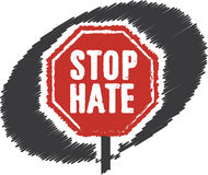 Σημάδι στάσεων μίσους στάσεων Στοκ Φωτογραφίες