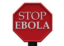 Σημάδι στάσεων Ebola Στοκ φωτογραφία με δικαίωμα ελεύθερης χρήσης