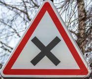 Σημάδι σταυροδρομιών, Γαλλία Στοκ εικόνες με δικαίωμα ελεύθερης χρήσης