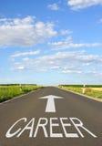 Σημάδι σταδιοδρομίας στο δρόμο στοκ εικόνες με δικαίωμα ελεύθερης χρήσης