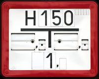 Σημάδι στομίων υδροληψίας πυρκαγιάς Στοκ φωτογραφία με δικαίωμα ελεύθερης χρήσης