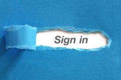 Σημάδι στο κείμενο σε χαρτί Στοκ εικόνα με δικαίωμα ελεύθερης χρήσης