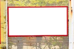 Σημάδι στο κλουβί Στοκ Εικόνες
