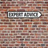 Σημάδι συμβουλής από ειδήμονες Στοκ Εικόνες
