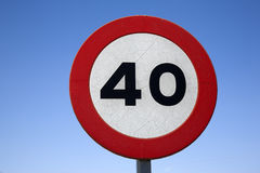 Σημάδι ταχύτητας σαράντα στοκ εικόνα με δικαίωμα ελεύθερης χρήσης