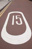 15 σημάδι ταχύτητας Στοκ φωτογραφία με δικαίωμα ελεύθερης χρήσης