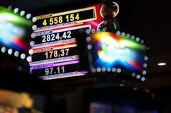 Σημάδι τζακ ποτ χαρτοπαικτικών λεσχών Στοκ Εικόνες